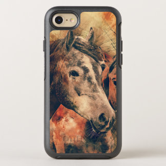 Horses Artistic Watercolor Painting Decorative OtterBox Symmetry iPhone 7 Case