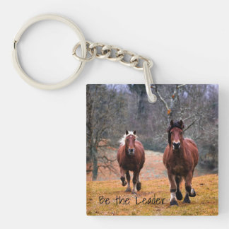 Horses Be The Leader Keychain