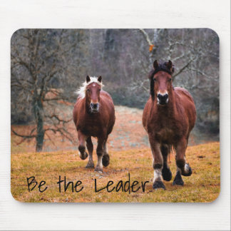 Horses Be The Leader Mouse Pad