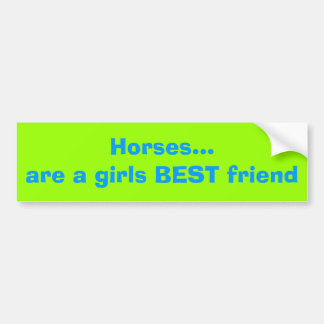 Horses Bumper Sticker