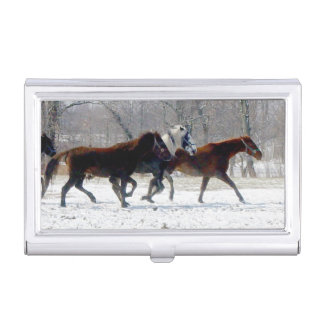 Horses Business Card Case