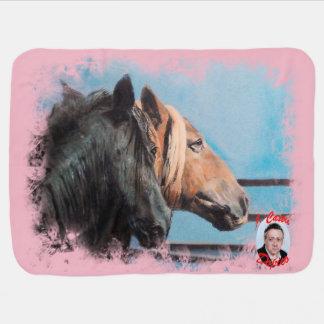 Horses/Cabalos/Horses Baby Blanket