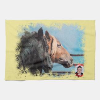 Horses/Cabalos/Horses Kitchen Towel