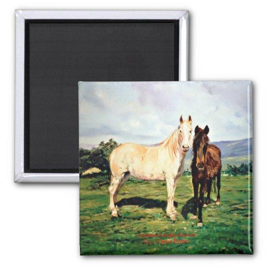Horses/Cabalos/Horses Magnet