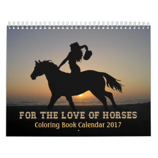 Horses Colouring Book Calendar 2017