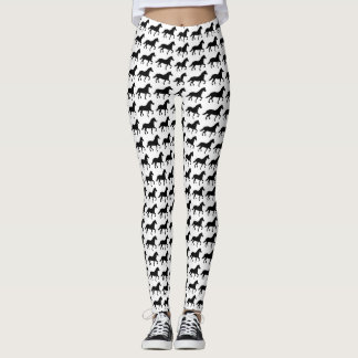 Horses Customizable Color Jogging, Yoga, Exercise Leggings