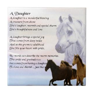 Horses - Daughter Poem Tile