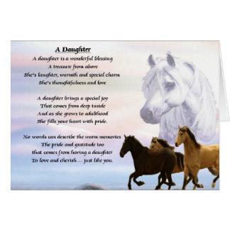 Horses Design - Daughter poem Card