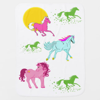 Horses Dream baby blanket