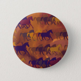 horses farm pattern 2 inch round button