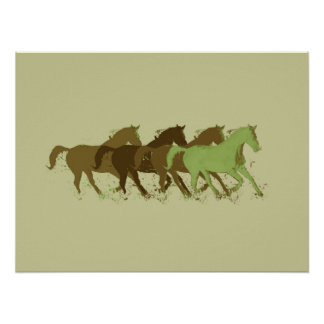 horses for wall poster