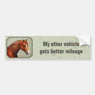 Horses Get Better Gas Mileage Morgan Horse Bumper Sticker