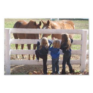 Horses & Girls Photo Print