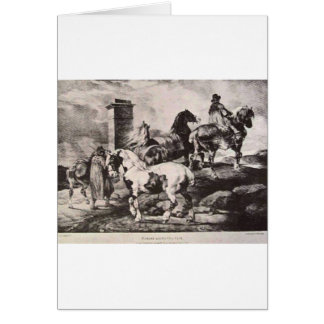 Horses going to a fair by Theodore Gericault Card