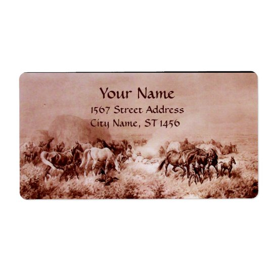HORSES GRAZING ,brown sepia