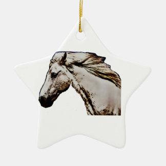 Horse's Head Ceramic Ornament