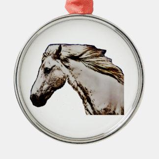 Horse's Head Metal Ornament