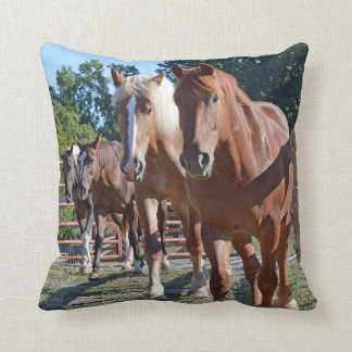 Horses Headed Back To The Barn Throw Pillow