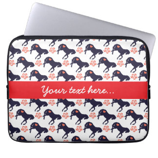 Horses Hearts and Roses Laptop Sleeve