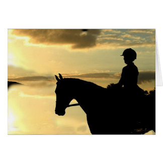 Horses - Hunter-Jumper - Overlook Card