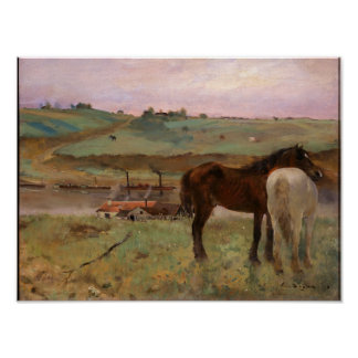 Horses in a Meadow Degas Fine Art Print