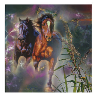 Horses in Action Acrylic Wall Art