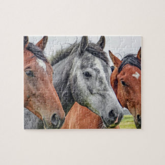 Horses In Autumn Jigsaw Puzzle