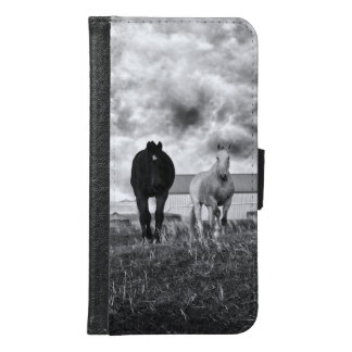 Horses In Black White, Galaxy S6 Wallet