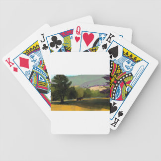 HORSES IN FIELD BICYCLE PLAYING CARDS