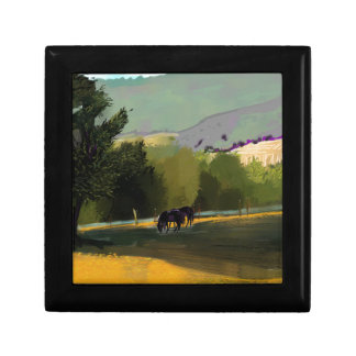 HORSES IN FIELD GIFT BOX