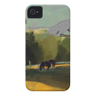 HORSES IN FIELD iPhone 4 CASES