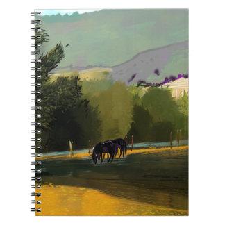 HORSES IN FIELD NOTEBOOK