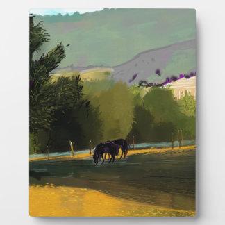 HORSES IN FIELD PLAQUE