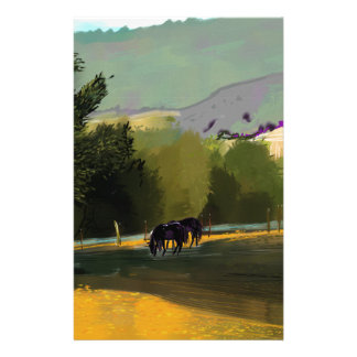 HORSES IN FIELD STATIONERY