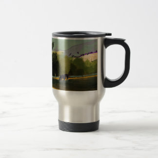 HORSES IN FIELD TRAVEL MUG