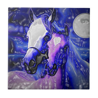Horses in Love Tile