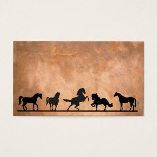 HORSES IN SILHOUETTE BUSINESS CARD