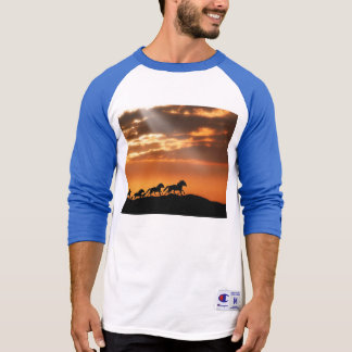 Horses in sunset T-Shirt