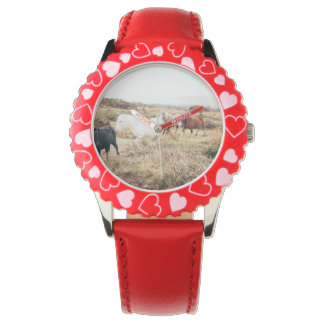Horses in the Nature Wristwatch