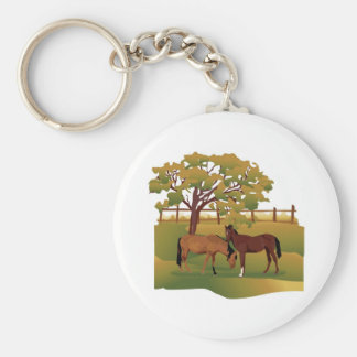 Horses in the Pasture Keychain