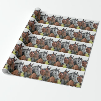 Horses In The Pasture Wrapping Paper