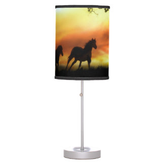 Horses in the Sunset Lamp