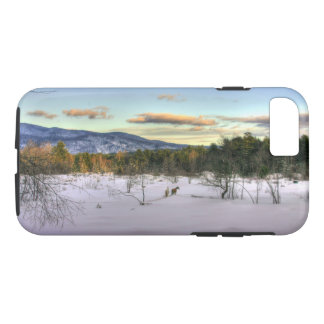Horses in Winters Twilight Phone Case