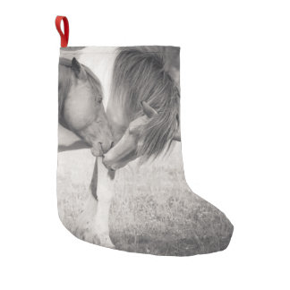 Horses Kissing Christmas Stocking