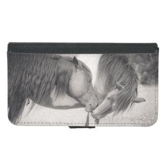 Horses Kissing Wallet Phone Case