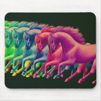 Horses of Different Colors Mousepad