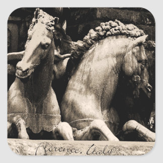 Horses of Florence, Italy Square Sticker
