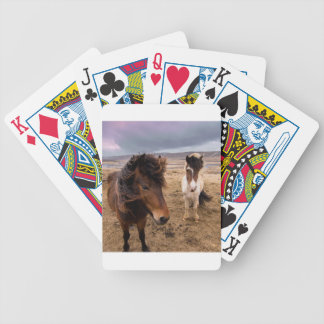 Horses of Iceland Bicycle Playing Cards