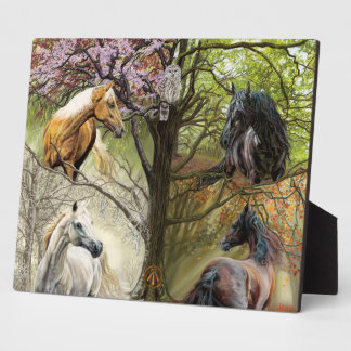 Horses of the Four Elements Art Plaque