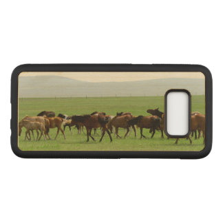 Horses on Pasture - Landscape Photograph Carved Samsung Galaxy S8 Case